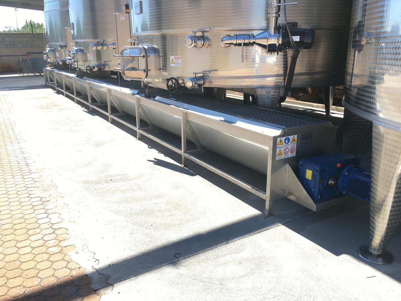 trasportatore vinificazione acciaio inox aisi 304 trasporto vinaccia bagnata
